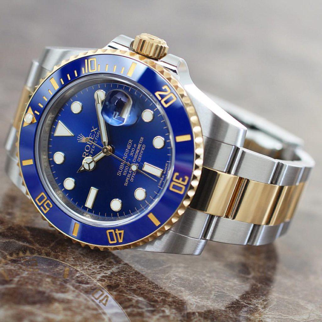 Rolex Submariner Ref. 116613LB, (c) Instagram @rolexdiver