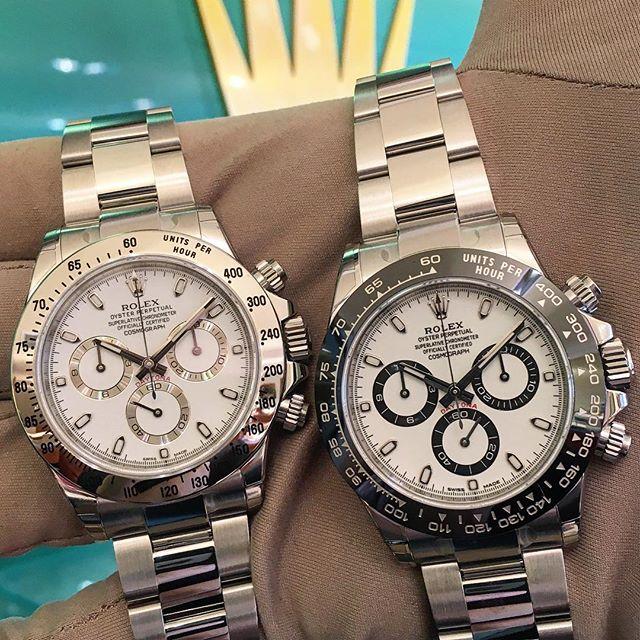 Rolex Daytona Ref. 116520 & 116500LN, (c) Instagram @jeweler_in_paradise