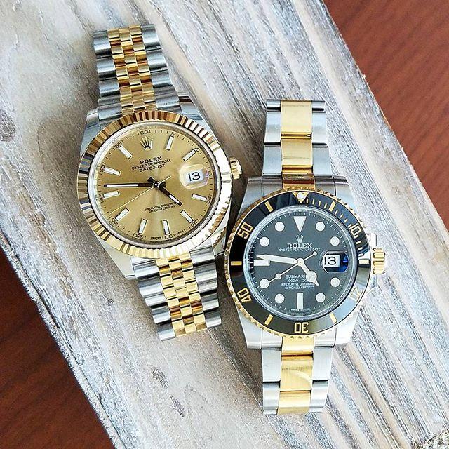Rolex Datejust 41 Ref. 126333 & Rolex Submariner Ref. 116613LN