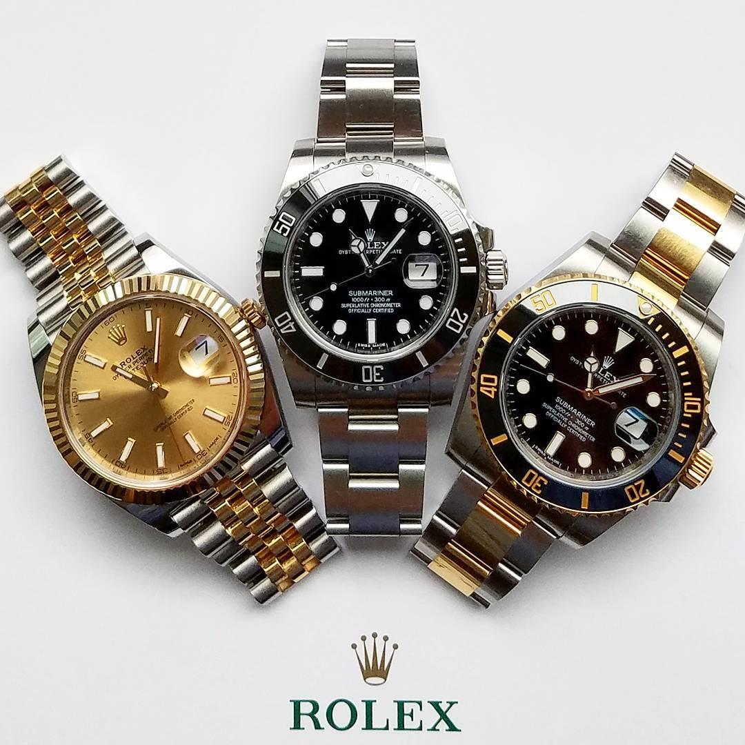 Rolex Datejust 41 Ref. 126333 - Rolex Submariner Ref. 116610LN - Rolex Submariner Ref. 116613LN