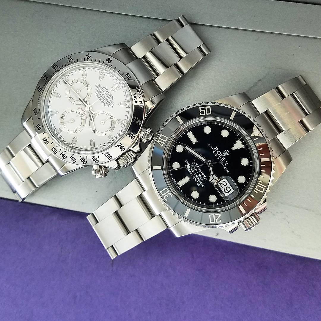 Rolex Daytona Ref. 116520 & Rolex Submariner Ref. 116610LN