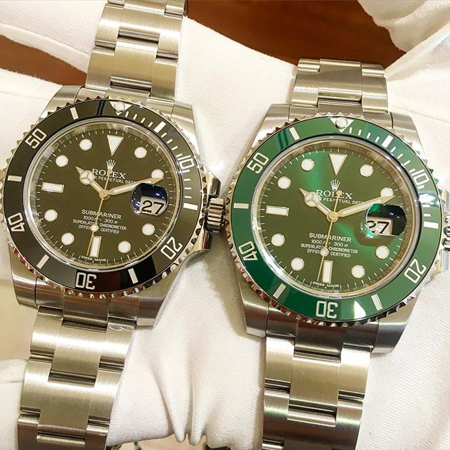 Rolex Submariner Ref. 116610LN & 116610LV, (c) Instagram @jeweler_in_paradise