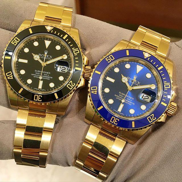 Rolex Submariner Ref. 116618LN & 116618LB, (c) Instagram @jeweler_in_paradise