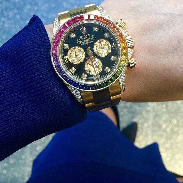 Rolex Daytona Ref. 116598RBOW, (c) Instagram @soloveitime