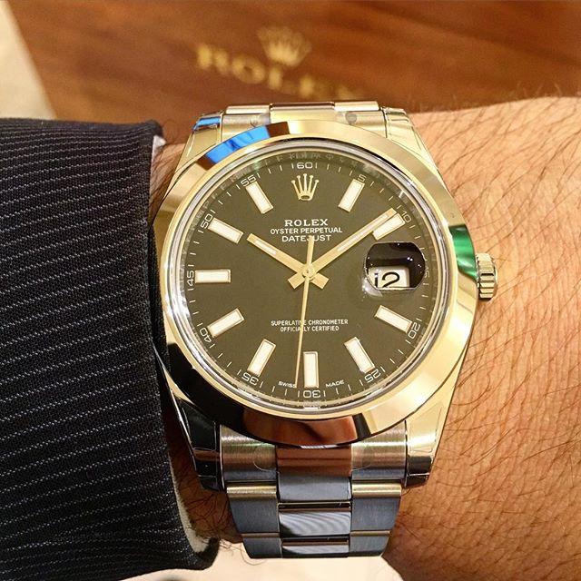 Rolex Datejust II Ref. 116300, (c) Instagram @jeweler_in_paradise