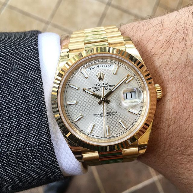 Rolex Day-Date 40 Ref. 228238, (c) Instagram @jeweler_in_paradise