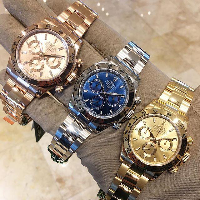 Rolex Daytona Ref. 116505 & 116509 & 116508, (c) Instagram @jeweler_in_paradise