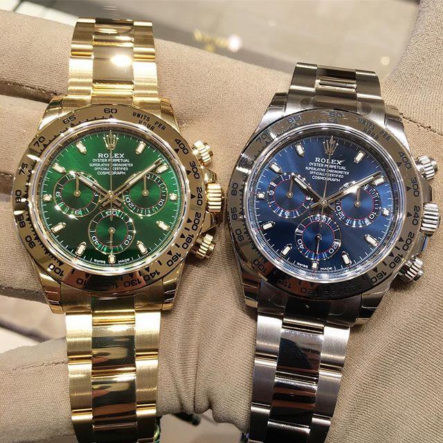 Rolex Daytona Ref. 116508 & 116509, (c) Instagram @jeweler_in_paradise