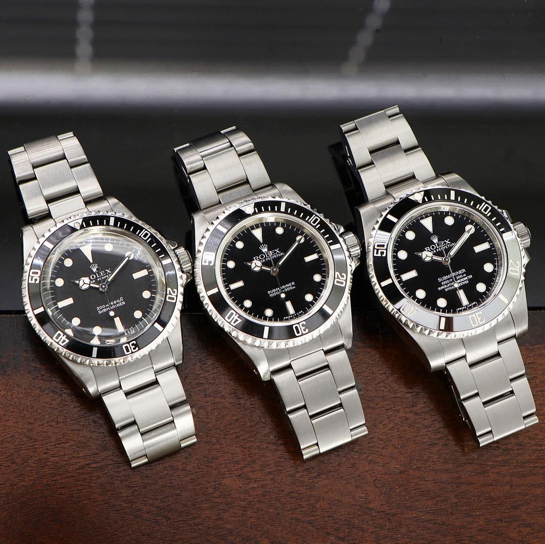 Rolex Submariner Ref. 5513 & 14060 & 114060