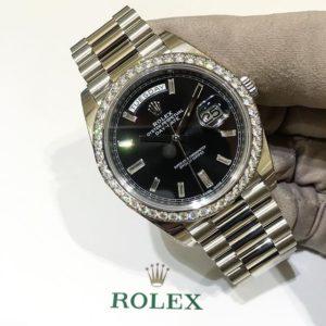 Rolex Day-Date 40 Ref. 228349RBR - Schwarzes Diamantzifferblatt