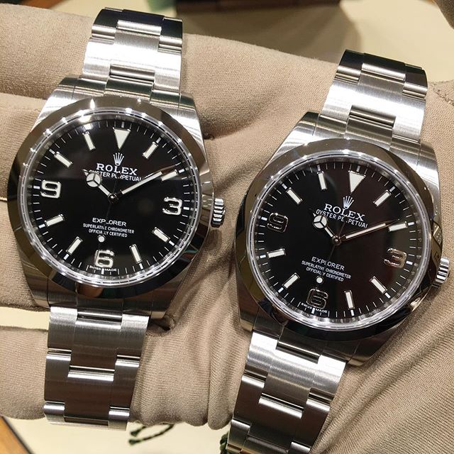 Rolex Explorer Ref. 214270 - Version 2016 & 2010