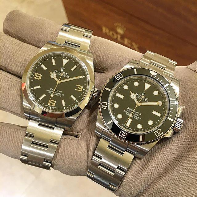 Rolex Explorer Ref. 214270 & Rolex Submariner Ref. 114060